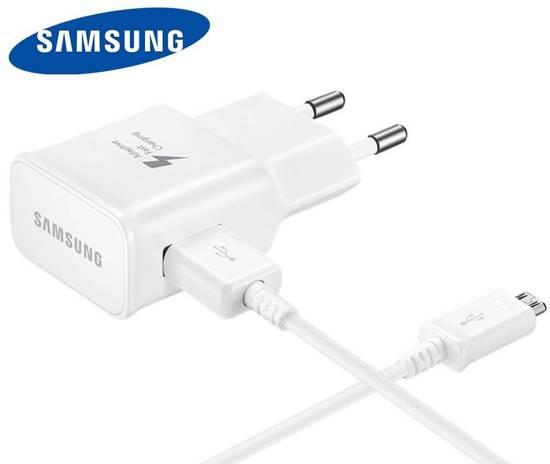 Oplader / Snellader Samsung Galaxy S6 & S7 en S6 & S7 Edge ( Met kabel Micro-USB 1,5 m!)  - Snel Lader - Origineel