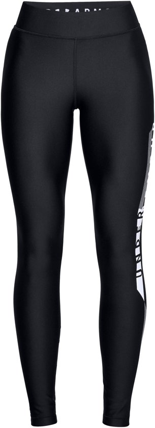 Under Armour HG Armour Graphic Legging Dames Sportlegging - Zwart - Maat M