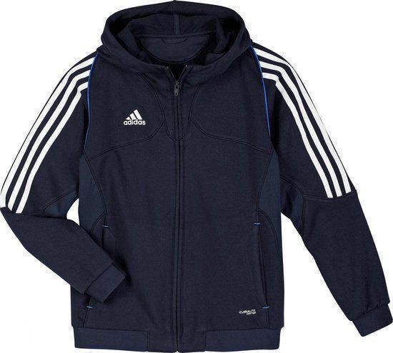 | Adidas T12 team hoody jr blauw Maat 176