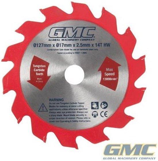 GMC laminaatzaag Blad 127 x 17 x 2,2 mm x 14 tanden