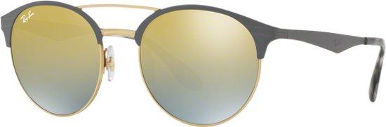 Ray-Ban RB3545 9007A7 - zonnebril - Grijs-Goud / Groen Gradiënt Spiegel - 54mm