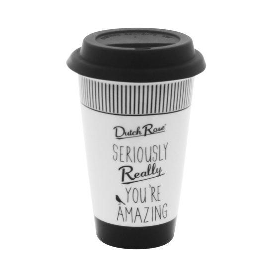 Dutch Rose Coffee to go Beker - Porselein - 250 mll