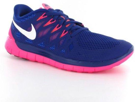 nike free 5.0 dames blauw roze