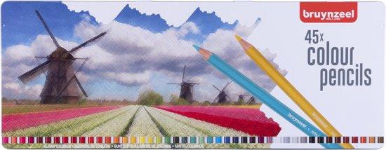 Afbeelding van Bruynzeel Holland blik 45 kleurpotloden