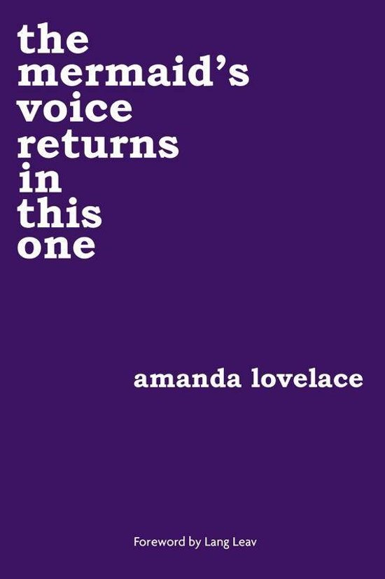 Boek cover Mermaids voice returns in this one van Amanda Lovelace (Paperback)