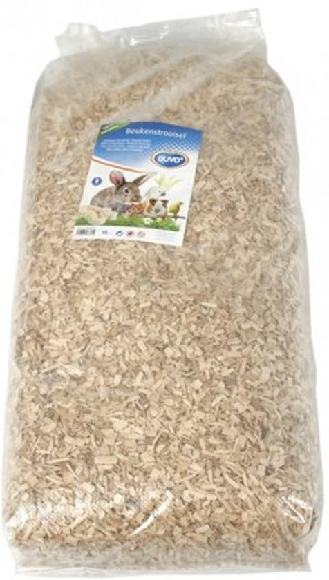 Duvo+ Bodembedekking beukensnippers 8 mm - Naturel - 15kg