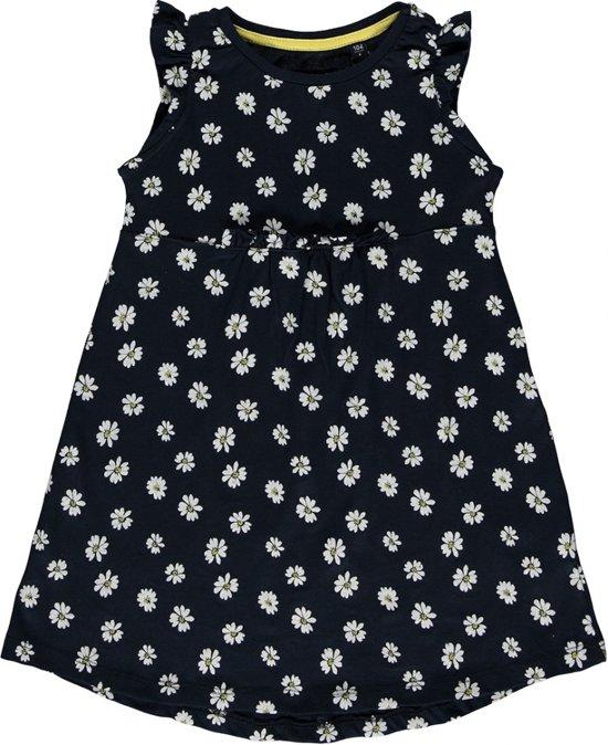 f35ef754bf3a8d Blue Seven meisjeskleding - Donkerblauwe jurk met print - Maat 128