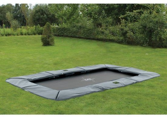 EXIT Supreme Ground Level Trampoline 214 x 366 cm