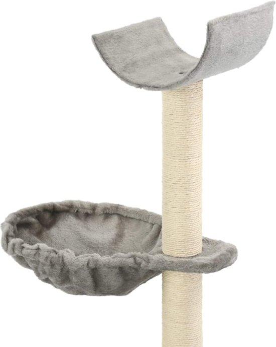 vidaXL Kattenkrabpaal met sisal krabpalen 105 cm grijs