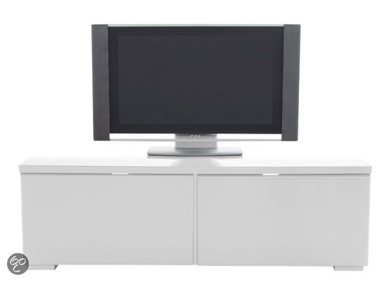 compact tv meubel arvid small 120 cm hoogglans wit 24designs. Black Bedroom Furniture Sets. Home Design Ideas