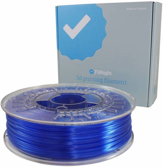FilRight Pro PETG - 1.75mm - 750 g - Blauw transparant