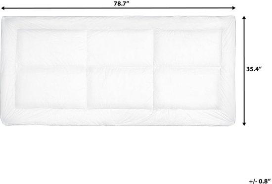 Beliani trivor Matrastopper Wit Stof 90 x 200 cm