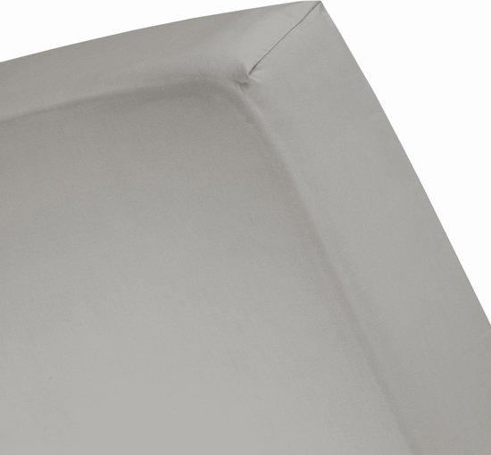 Damai Organic - Hoeslaken (tot 25 cm) - Bio Percale - 180 x 210 cm - Cement