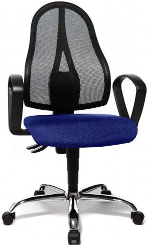 Bureaustoel Blauw Zwart.Topstar Open Point O Somo Al B2 B Bureaustoel Blauw Zwart