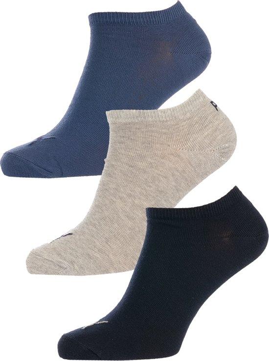 64b1e0a02a5 Puma - 3-pack Sokken Invisible Navy Blauw / Grijs Melange / Blauw - Unisex