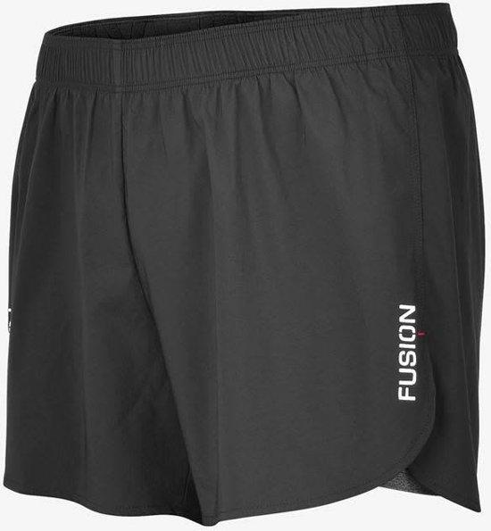 Fusion C3+ 2-in-1 Run Shorts Zwart Unisex L