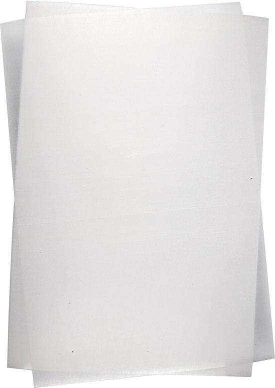 Krimpfolie, vel 20x30 cm, Transparant glans, 10 vellen