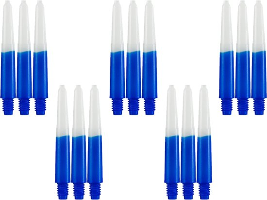 Dragon darts - Two Tone Blauw - short - dart shafts - multipack 5 sets - darts shafts