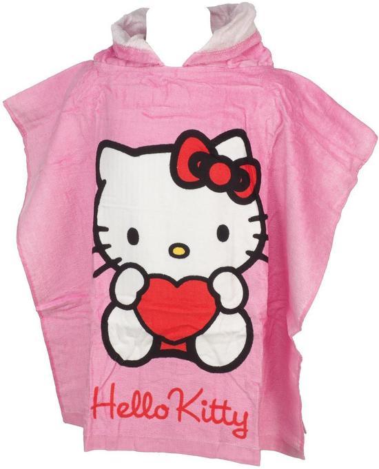 Handdoek Hello Kitty.Hello Kitty Poncho Handdoek Badlaken
