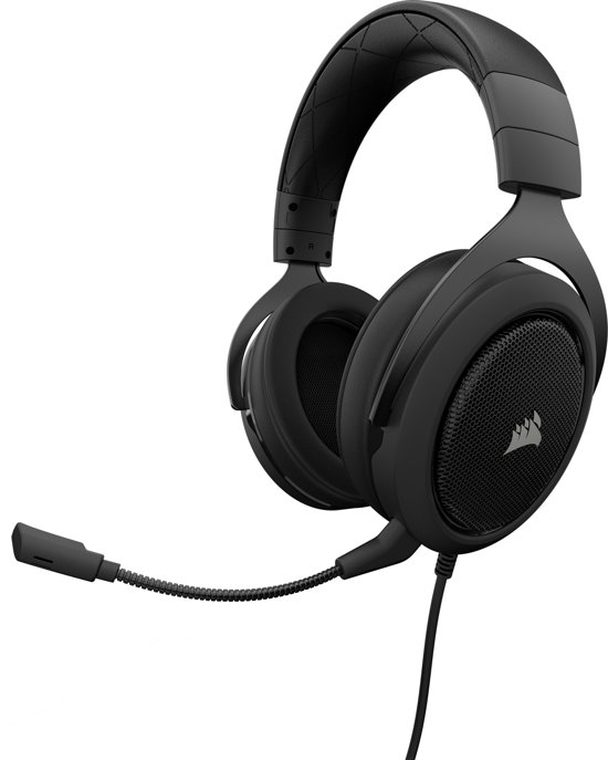 Corsair HS50 - Gaming Headset - Carbon Zwart - PS4 + Xbox One + PC + Switch