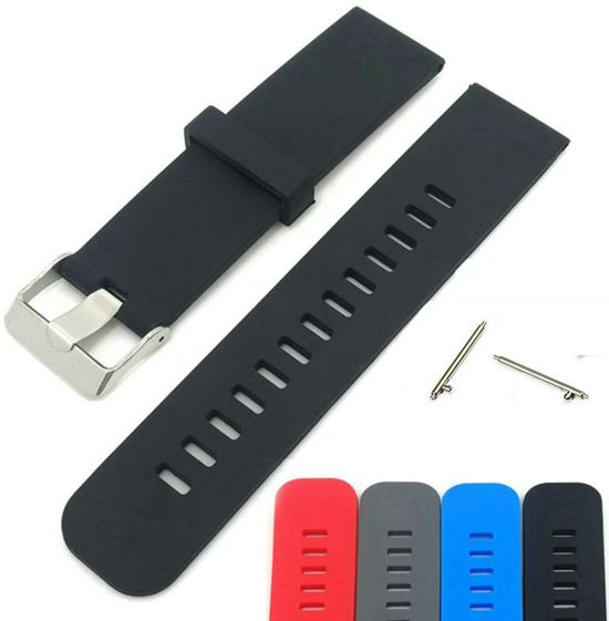Siliconen Horloge Band Voor Nokia Withings Steel HR - Armband Polsband / Strap / Sportband - Zwart