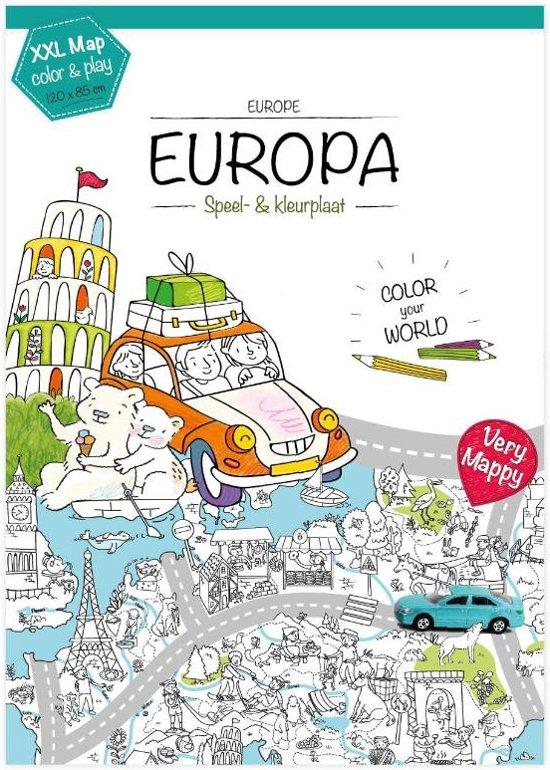 Kleurplaten Europa.Bol Com Very Mappy Xxl Speel En Kleurplaat Van Europa Very