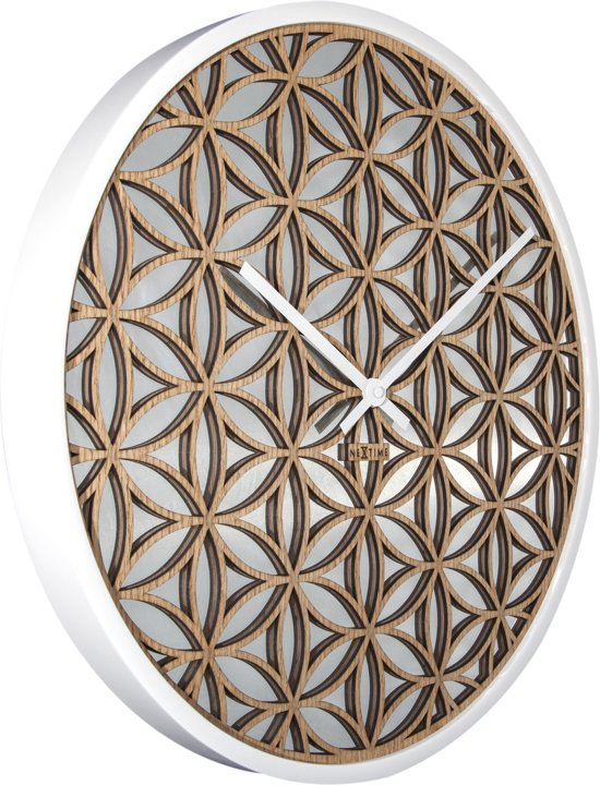 NeXtime Bella Mirror Wandklok à 50 cm