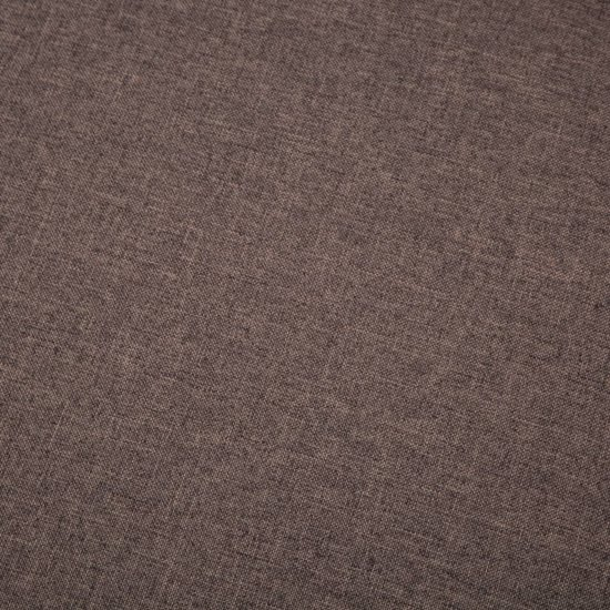 vidaXL Bank L-vormig 186x136x79 cm stoffen bekleding bruin