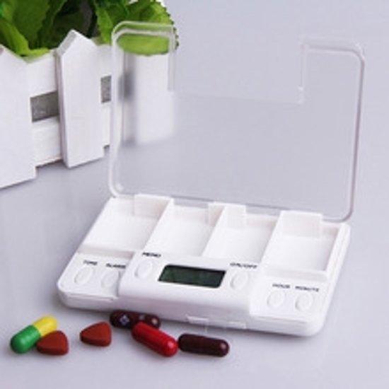 Pillendoos Met Alarm 5 Vakken.Pillendoos Met Alarm 8x Per Dag En Handige Snooze Functie