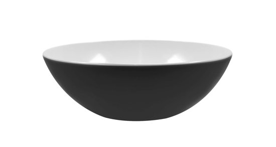 Zak!Designs Twotone Saladeschaal - Shallow - Ø 32 cm - Zwart