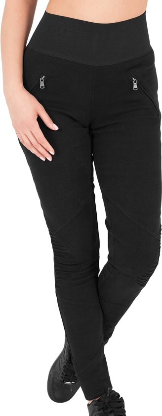 Urban Classics Ladies Interlock High Waist Leggings TB1053 cha blk maat M 003765fe9a