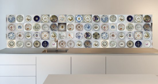 Keuken Behang Afwasbaar : Keuken behang afwasbaar elegant keuken achterwand behang betonlook