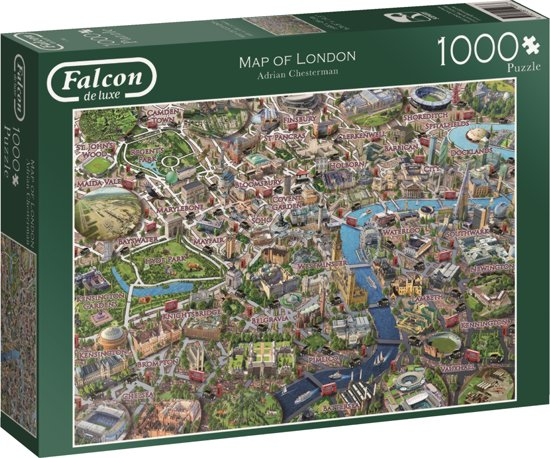 Falcon Map of London 1000pcs