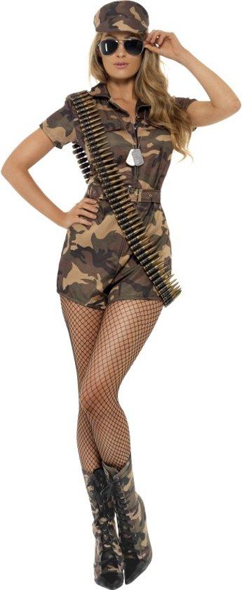 Afbeelding van Sexy Army girl kostuum   Legerpakje   Leger Jumpsuit - Carnavalskleding dames maat L (44-46) speelgoed