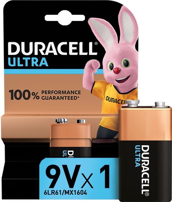 Duracell Alkaline Ultra Power 9V - 9 Volt - 1 stuk