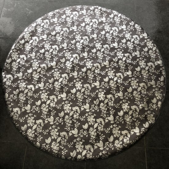 Palace Fashion Tafelzeil - Rond 160 cm - Black Silver