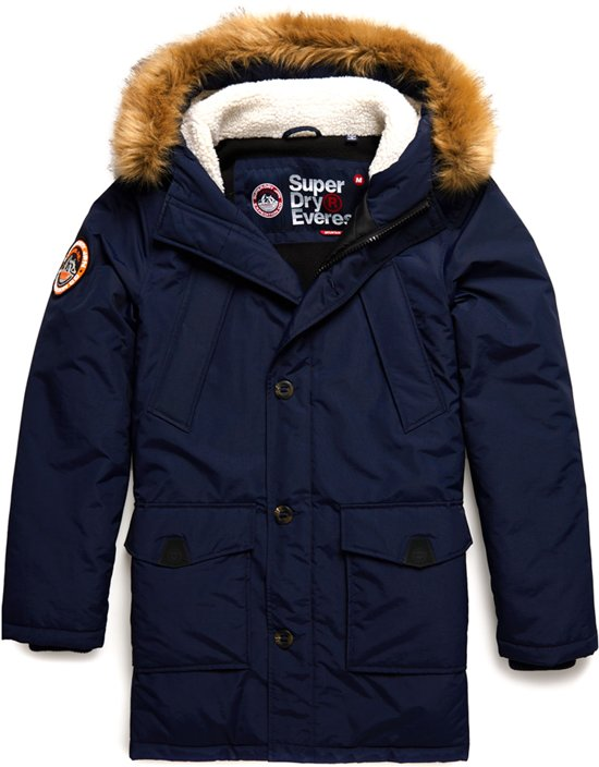 Superdry Everest Parka  Jas - Maat XXL  - Mannen - navy