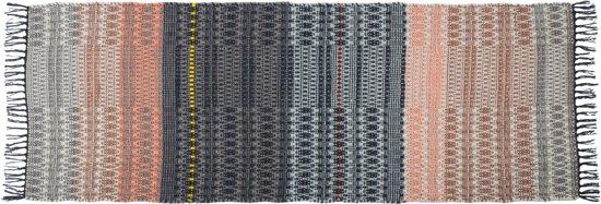 bol.com : Zuiver Salmon - Vloerkleed - Zwart/Roze - 80x200 cm : Wonen