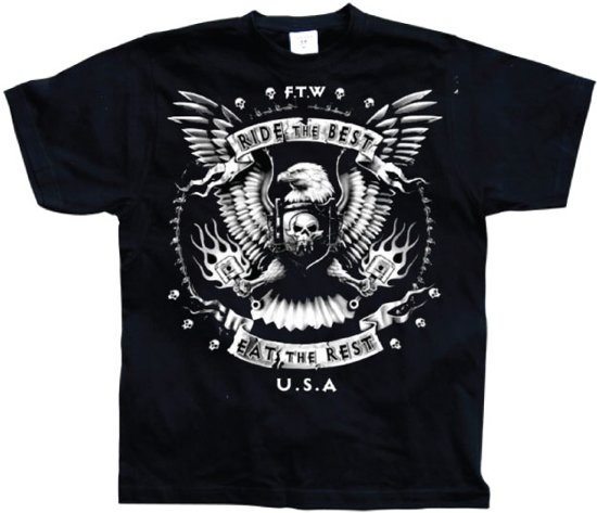 LIFESTYLE - T-Shirt Ride the Best / Eat the Rest (S)