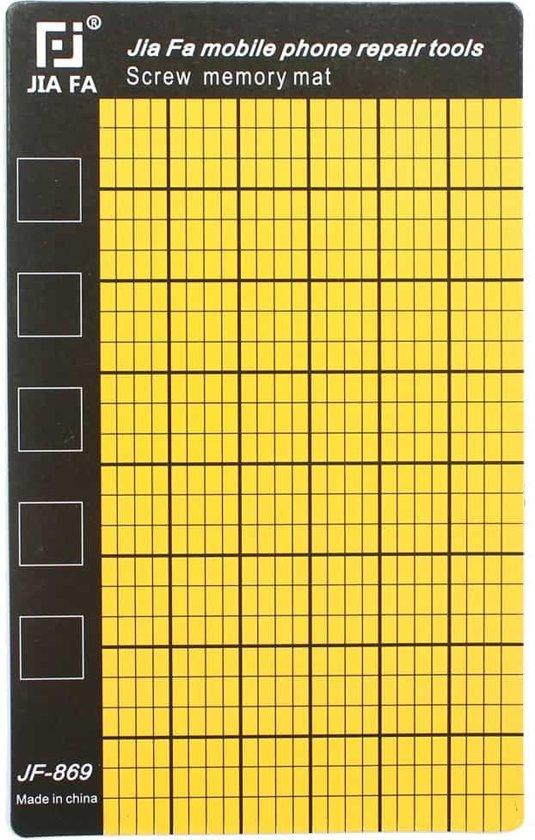 Let op type!! JF-869 Universal Magnetic Screws Mat for Phone Repair  Size: 14.5x9cm