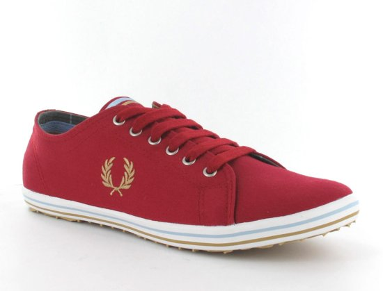 Heren Fred Perry Twill Rood;goud Maat Sneakers 39 Kingston Tipped OOB1qXw