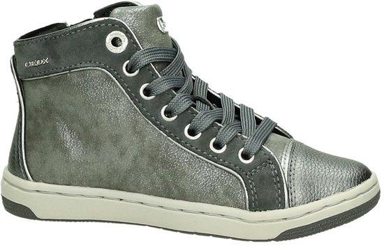 Geox - J 62l5 E - Schoenen met rits en veter - Meisjes - Maat 31 - Grijs;Grijze - 9002 -Dk grey