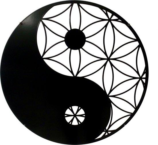 Dit Pracht - wanddecoratie Yin-Yang - antraciet/zwart - 50cm