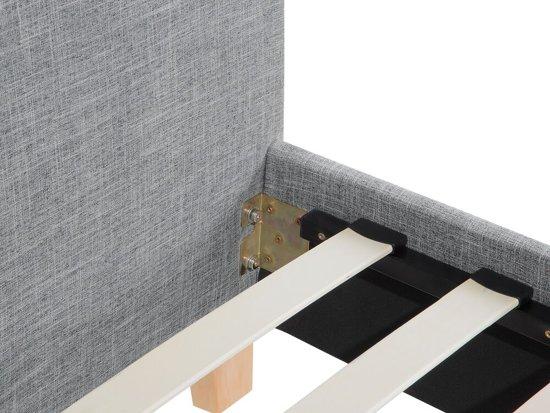Beliani Sennez Bed Grijs polyester