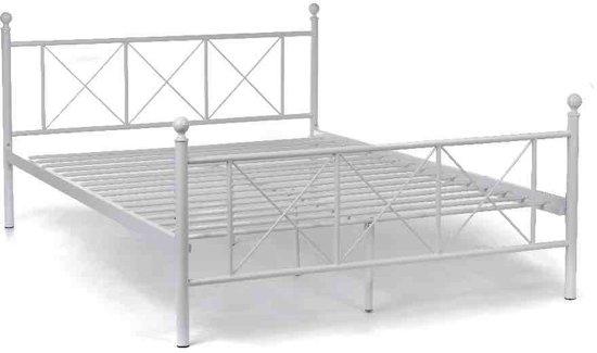 Metalen Bedframe 1 Persoons.Wit Ijzeren Bed Lld38 Tlyp