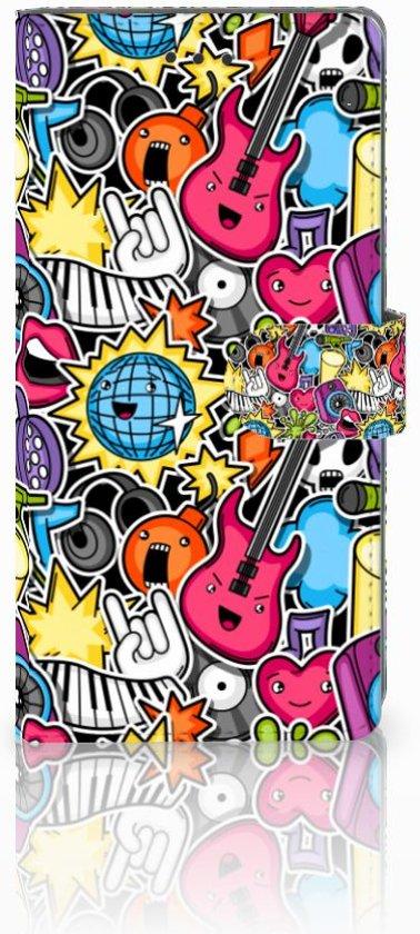 Samsung Galaxy Note 8 Uniek Boekhoesje Punk Rock