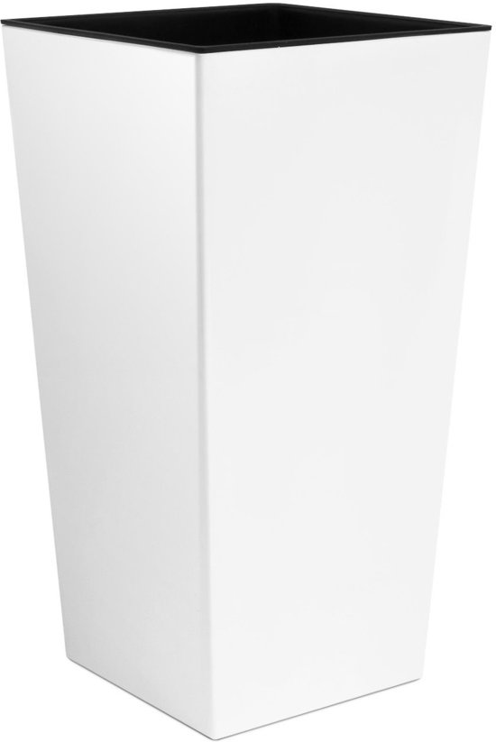 Witte Bloempot Vierkant.Bol Com Bloempot Hoog Vierkant Urbi Square 22x22x42cm Wit Prosperplast
