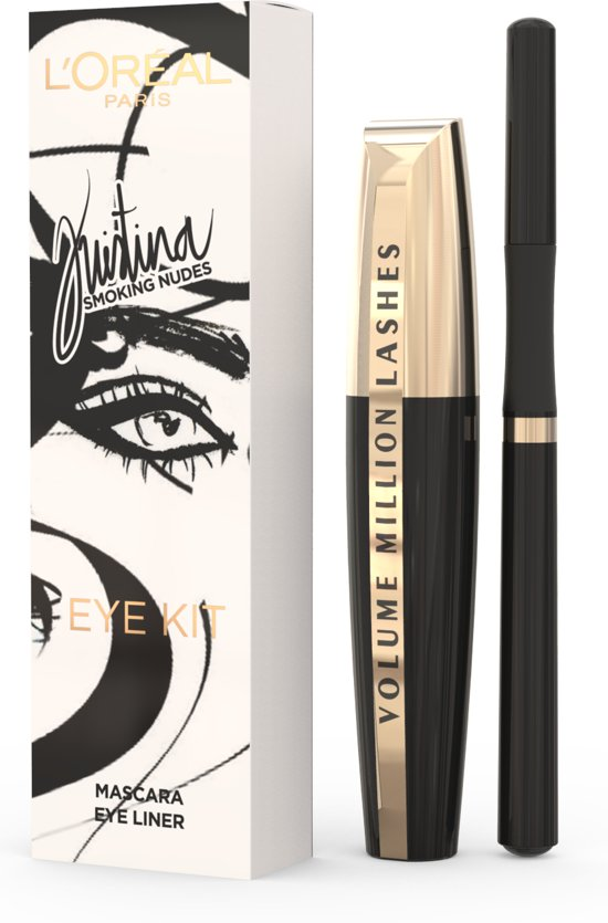 L'Oréal Paris Kristina Bazan Smoking Nudes Eye Kit Geschenkverpakking