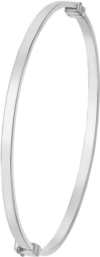 Lucardi Armbanden - 9 Karaat bangle vierkant wit
