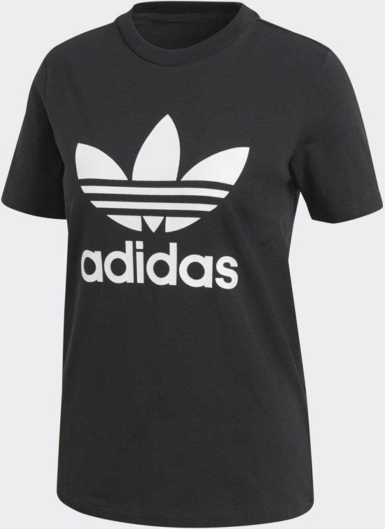 adidas Originals Trefoil Tee T Shirt Dames BlackWhite